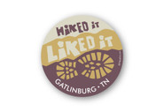 Wholesale Hike It Liked It Boot Round Sticker - Brown