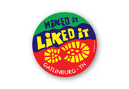 Wholesale Hike It Liked It Boot Round Sticker - Bright