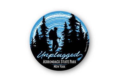 "Unplugged Adirondacks Hiker 4"" round"