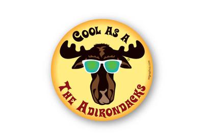 "Cool Moose Adirondacks 4"" round sticker"
