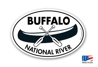 Buffalo National River Canoe Sticker