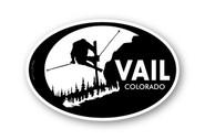 Wholesale Skier Sticker