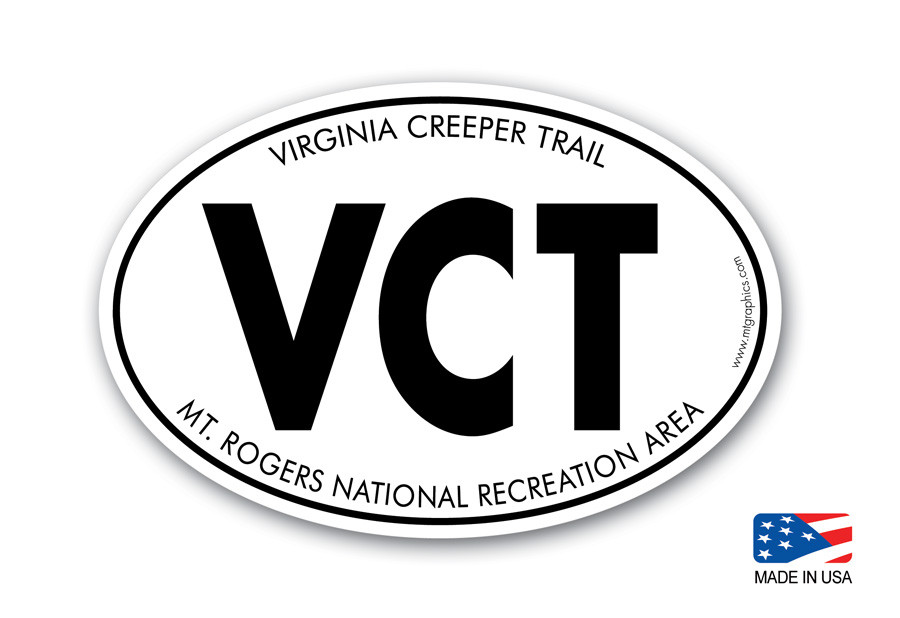 Vct Virginia Creeper Trail Sticker Mountain Graphics
