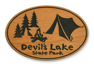 Wholesale Camping Wooden Magnet