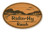 Wholesale Mountain Lake Wooden Magnet