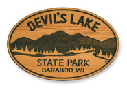 Wholesale Mountain Lake and Trees Wooden Magnet