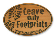 Wholesale Leave Only Footprints Wooden Magnet