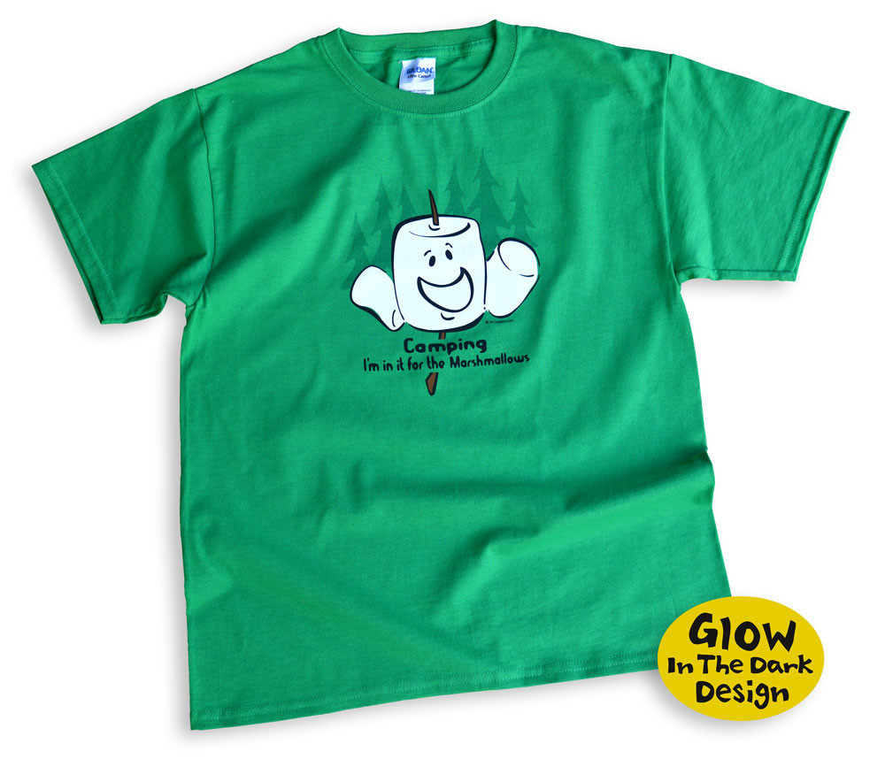 cef33008 Camping Marshmallows Kids T-shirt | Mountain Graphics | Free Shipping