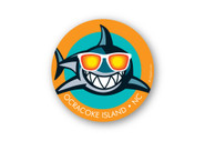 Wholesale Cool Shark Sticker - Orange
