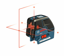 Bosch GCL25 - Five-Point Self-Leveling Alignment Laser and Cross-Line