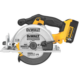 "DeWALT DCS391P1 - 20V MAX Li-Ion 6-1/2"" Circular Saw (5.0Ah) w/ 1 Battery and Kit Box"