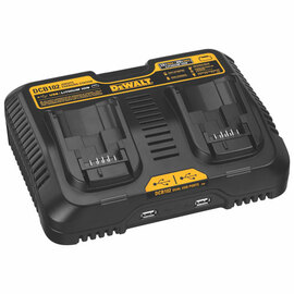 DeWALT DCB102 - 12V/20V MAX Li-Ion Dual Port Jobsite Charging Station w/2 USB ports