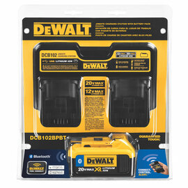 DeWALT -  12V/20V MAX Li-Ion Dual Port Jobsite Charging Station w/2 USB ports w/DCB204 - DCB102BP