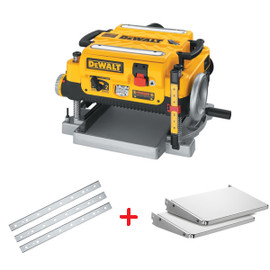 "DeWALT DW735XCAN - 13"" Planer with Folding Tables & extra Set of Blades (Shipped as three pieces)"