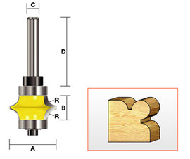 "Kempston 316021 - Full Bead Bit, 3/16"" Radius"
