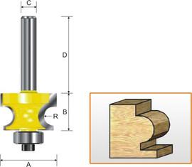 "Kempston -   Edge Beading Bit, 1/4"" Radius - 319451"