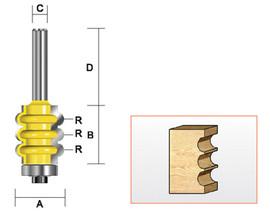 "Kempston 324411 - Triple Flute Bit, 1/8"" Radius"