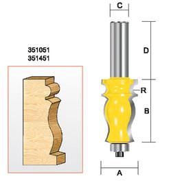 "Kempston 351051 - Specialty Molding Bit, 5/64"" Radius"