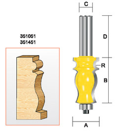 "Kempston 351451 - Specialty Molding Bit, 1/8"" Radius"