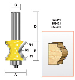 """Kempston 359411 - Specialty Molding Bit, 1-1/8"""" x 1"""""""