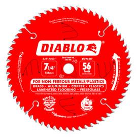Freud D0756N - 7-1/4X56 TOOTH NON-FERROUS METALS / PLASTICS SAW BLADE