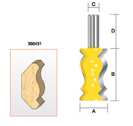 "Kempston -   Crown Molding Bit, 1-1/4"" x 2-1/4"" - 360431"