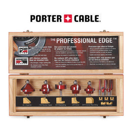 Porter Cable PCRBS10 - 10 PC. CARBIDE ROUTER BIT SET