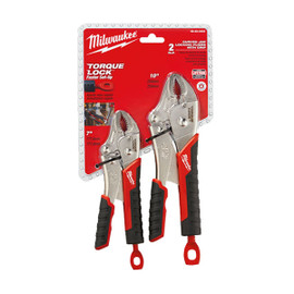 Milwaukee -  2PC TORQUE LOCK Curved Jaw Locking Pliers Set - 48-22-3402