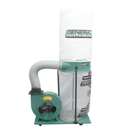 ****Discontinued**** General 1 1/2 HP dust collector with HEPA canister