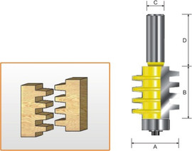 Kempston 601411 - Economy Finger Joint Bit