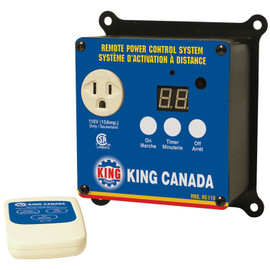 KING RC-110 - 110V Remote power control system for dust collector