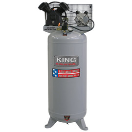 KING KC-6160V1 - Stationary 6.5 peak HP 60 Gallon air compressor