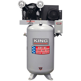 KING KC-7180V1-MS - High output 7.5 peak HP 80 Gallon air compressor