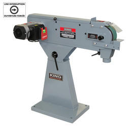 "KING KC-379MS - 3"" x 79"" Metal belt sander"