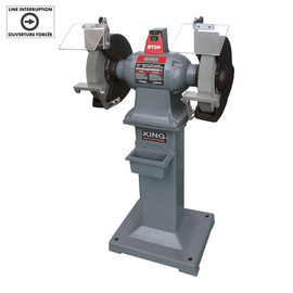 "KING KC-1295 - 12"" Heavy-duty bench grinder with floor stand"