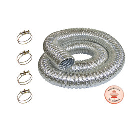 "KING KM-102 - 2 pc. 3"" x 8' (2.5m) 130º Fireproof metal dust collection hose kit"