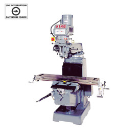 "KING 1050VS - Vertical ""turret"" milling machine (with 3 stage power table feed att.)"