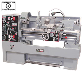 "KING KC-1640ML/KM-055 - 16"" x 40"" High precision ""Toolroom"" metal lathe with taper attachment"