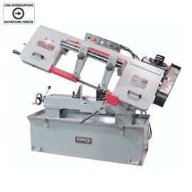 "KING KC-227-2 - 10"" x 18"" Metal cutting bandsaw 220V"