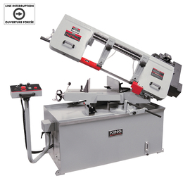 "KING KC-228S-V-2 - 10"" x 18"" Variable speed swivel metal cutting bandsaw - 220V"