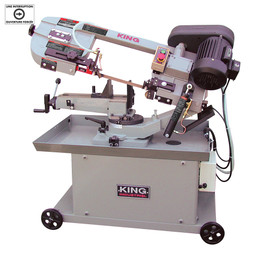 "KING KC-712DS - 7"" x 12"" Metal cutting dual swivel bandsaw"
