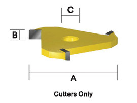 "Kempston -   3-Wing Slot Cutter, 1/4"" Length - 704851"