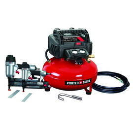 Porter Cable -  Brad Nailer/Finish Nailer Compressor Combo Kit - PCFP12656