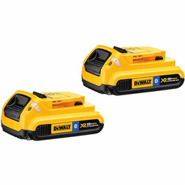 DeWALT DCB203BT-2 - 20V MAX Li-Ion Compact Battery Pack with Bluetooth Technology 2-Pack (2.0 Ah)