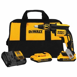 DeWalt -  20V MAX XR Drywall Screwgun (2.0Ah) w/ 2 Batteries and Bag - DCF620D2
