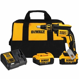 DeWalt -  20V MAX XR Drywall Screwgun (4.0Ah) w/ 2 Batteries and Bag - DCF620M2