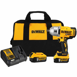 "DeWalt -  20V MAX XR 3 Speed 1/2"" High Torque Impact Wrench (Hog Ring) (5.0Ah) w/ 2 Batteries and Bag - DCF899HP2"