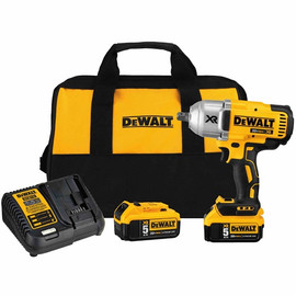 "DeWalt -  20V MAX XR 3 Speed 1/2"" High Torque Impact Wrench (Detent Pin) (5.0Ah) w/ 2 Batteries and Bag - DCF899P2"