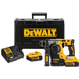 DeWalt -  20V MAX XR 3 Mode SDS Rotary Hammer (5.0Ah) w/ 2 Batteries and Kit Box - DCH273P2