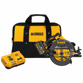 "DeWalt -  FLEXVOLT™ 60V MAX* 7-1/4"" (184MM) CIRCULAR SAW W/BRAKE KIT (INCLUDES 1 60V LION BATTERY AND FAST CHARGER) - DCS575T1"